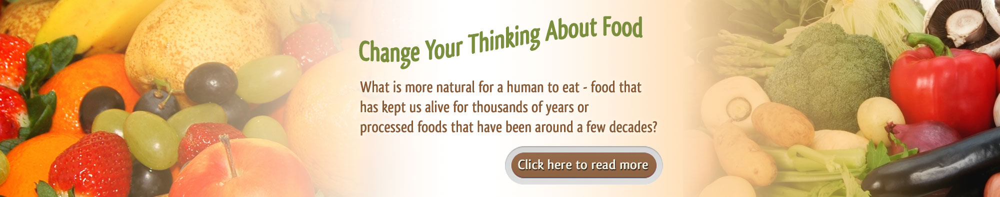 Change Your Thinking About Food